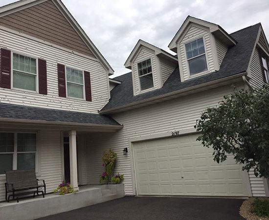 hail damage on roof, siding, and windows